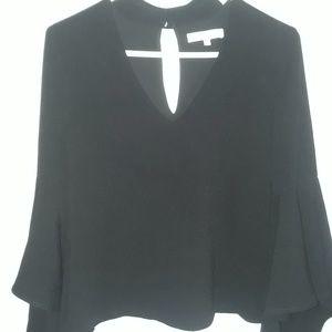 Black bell sleeves top. XS
